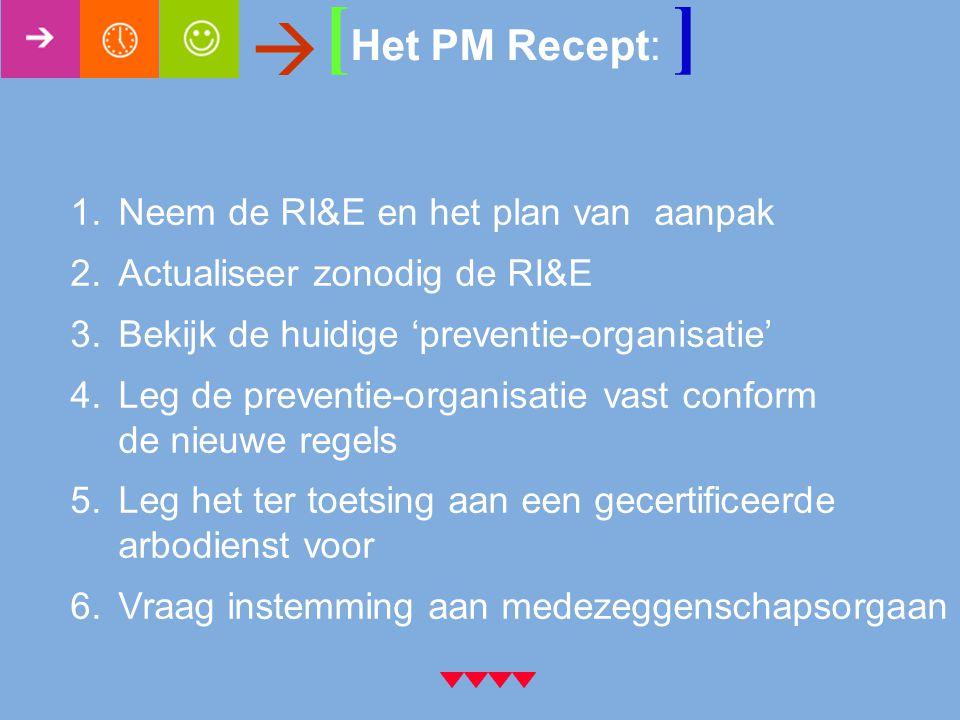 [Het PM Recept: ]  Neem de RI&E en het plan van aanpak